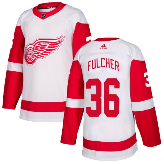 Kaden Fulcher Detroit Red Wings Authentic Adidas Jersey - White