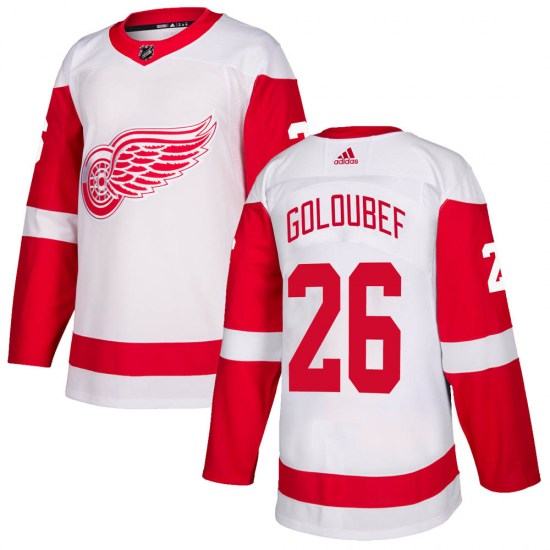 Cody Goloubef Detroit Red Wings Authentic ized Adidas Jersey - White
