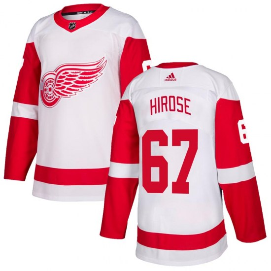 Taro Hirose Detroit Red Wings Authentic Adidas Jersey - White