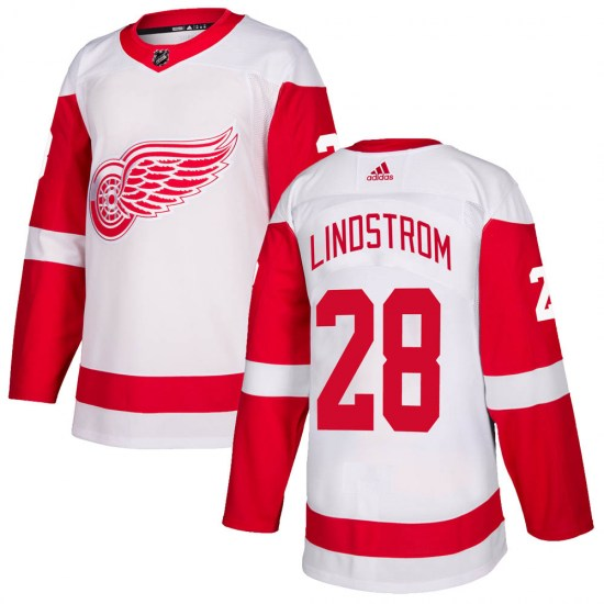 Gustav Lindstrom Detroit Red Wings Authentic Adidas Jersey - White