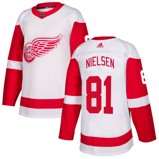 Frans Nielsen Detroit Red Wings Authentic Adidas Jersey - White
