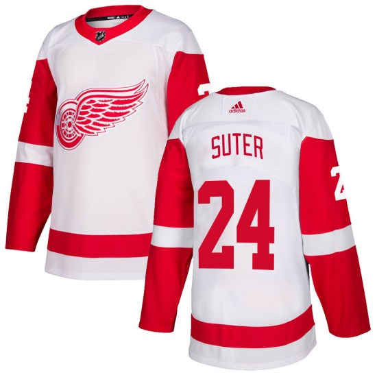 Pius Suter Detroit Red Wings Authentic Adidas Jersey - White