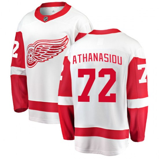 Andreas Athanasiou Detroit Red Wings Youth Breakaway Away Fanatics Branded Jersey - White