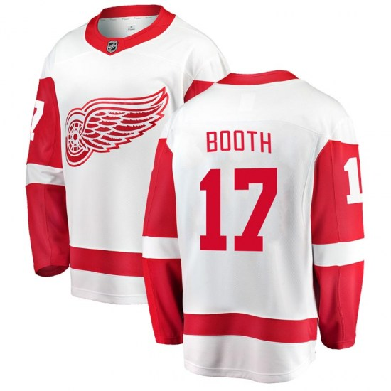 David Booth Detroit Red Wings Youth Breakaway Away Fanatics Branded Jersey - White