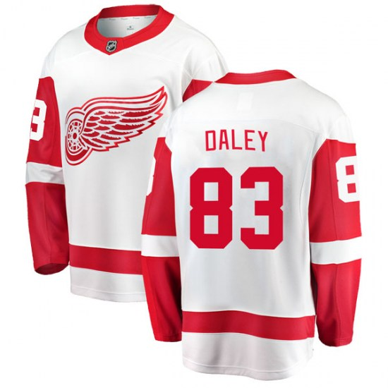 Trevor Daley Detroit Red Wings Youth Breakaway Away Fanatics Branded Jersey - White