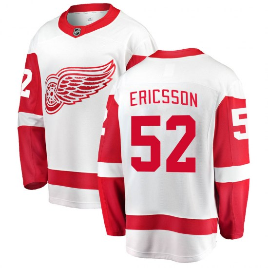 Jonathan Ericsson Detroit Red Wings Youth Breakaway Away Fanatics Branded Jersey - White