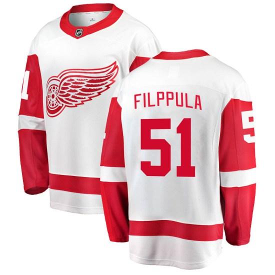 Valtteri Filppula Detroit Red Wings Youth Breakaway Away Fanatics Branded Jersey - White