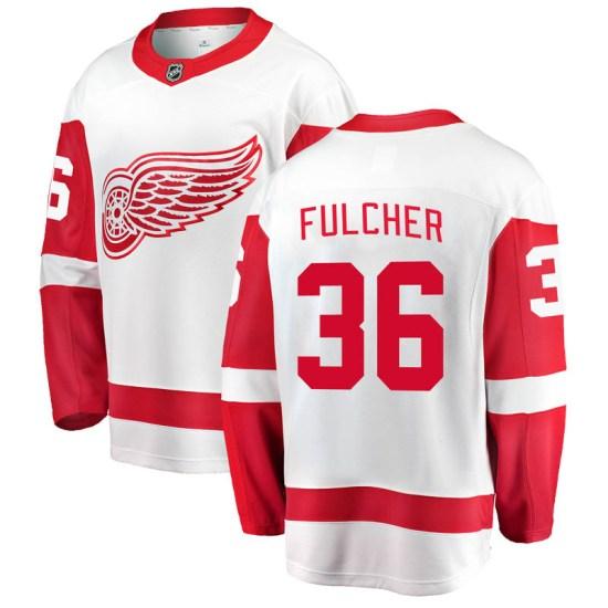 Kaden Fulcher Detroit Red Wings Youth Breakaway Away Fanatics Branded Jersey - White