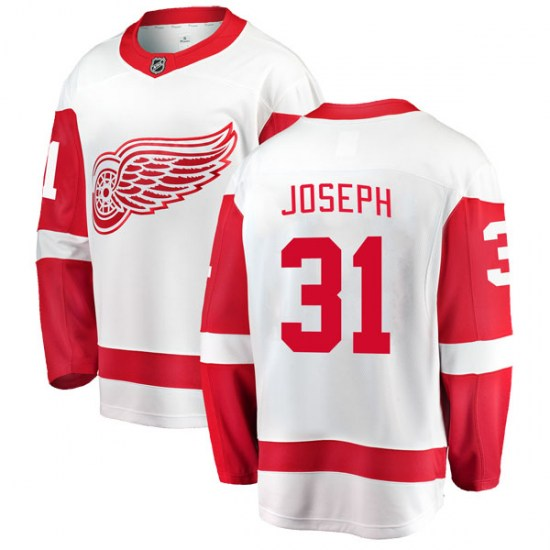 Curtis Joseph Detroit Red Wings Youth Breakaway Away Fanatics Branded Jersey - White