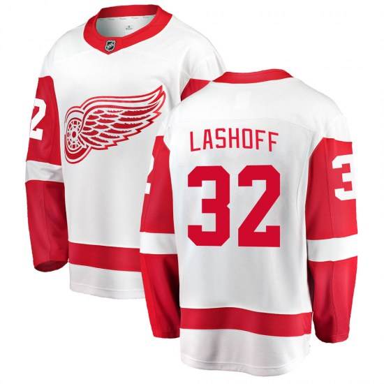Brian Lashoff Detroit Red Wings Youth Breakaway Away Fanatics Branded Jersey - White