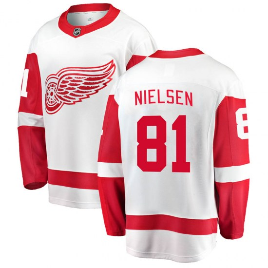 Frans Nielsen Detroit Red Wings Youth Breakaway Away Fanatics Branded Jersey - White