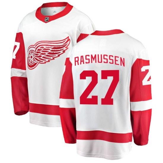 Michael Rasmussen Detroit Red Wings Youth Breakaway Away Fanatics Branded Jersey - White