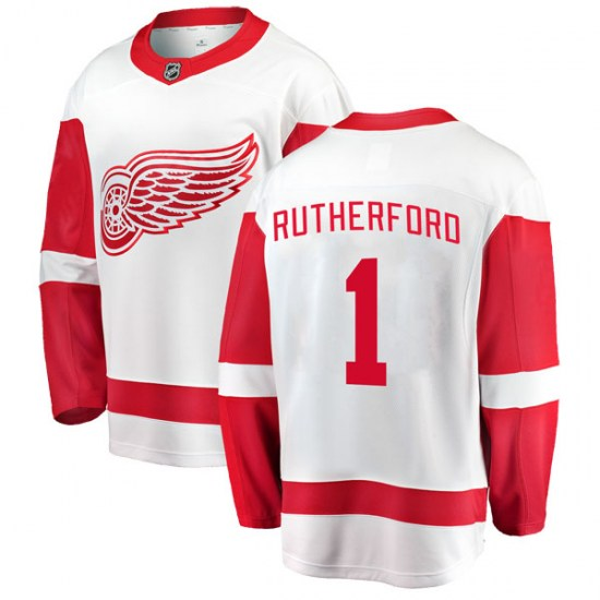 Jim Rutherford Detroit Red Wings Youth Breakaway Away Fanatics Branded Jersey - White