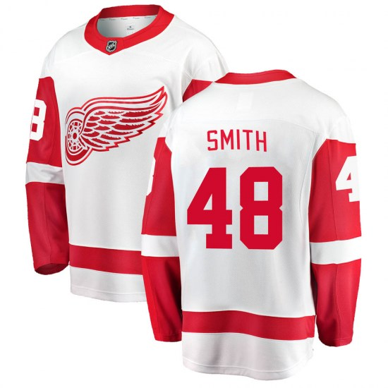 Givani Smith Detroit Red Wings Youth Breakaway Away Fanatics Branded Jersey - White