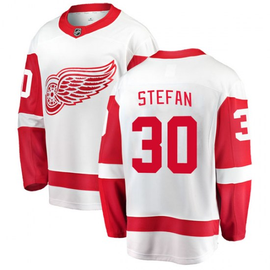Greg Stefan Detroit Red Wings Youth Breakaway Away Fanatics Branded Jersey - White