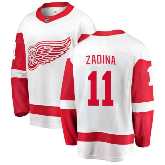 Filip Zadina Detroit Red Wings Youth Breakaway Away Fanatics Branded Jersey - White