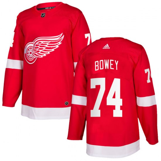 Madison Bowey Detroit Red Wings Authentic Home Adidas Jersey - Red