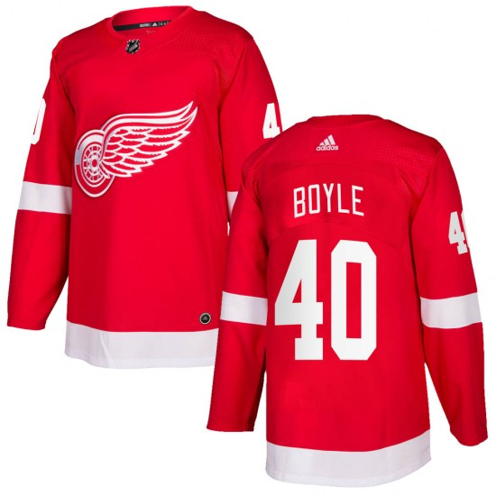 Kevin Boyle Detroit Red Wings Authentic Home Adidas Jersey - Red