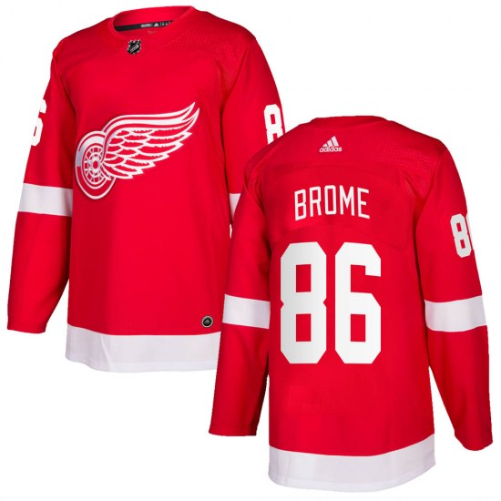 Mathias Brome Detroit Red Wings Authentic Home Adidas Jersey - Red