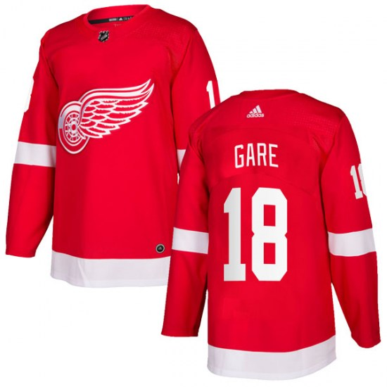 Danny Gare Detroit Red Wings Authentic Home Adidas Jersey - Red
