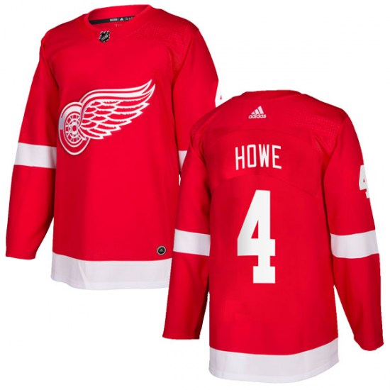 Mark Howe Detroit Red Wings Authentic Home Adidas Jersey - Red