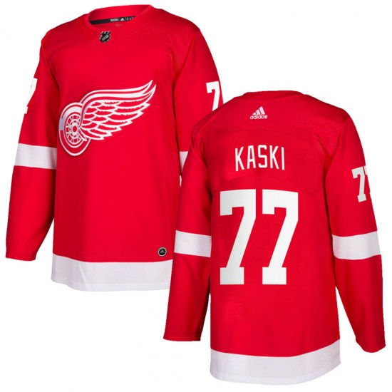 Oliwer Kaski Detroit Red Wings Authentic Home Adidas Jersey - Red