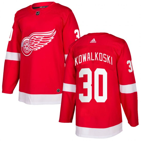 Justin Kowalkoski Detroit Red Wings Authentic Home Adidas Jersey - Red