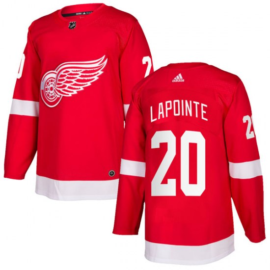 Martin Lapointe Detroit Red Wings Authentic Home Adidas Jersey - Red