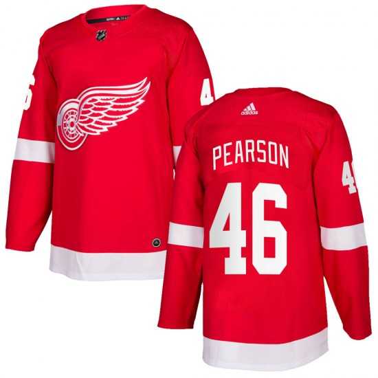 Chase Pearson Detroit Red Wings Authentic Home Adidas Jersey - Red