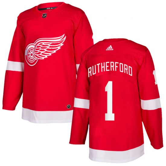 Jim Rutherford Detroit Red Wings Authentic Home Adidas Jersey - Red