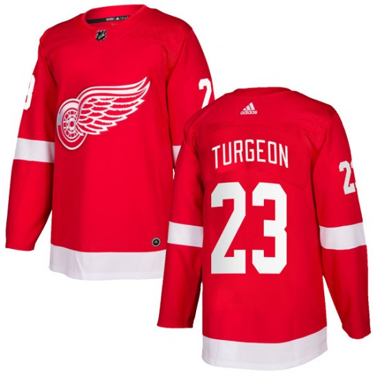 Dominic Turgeon Detroit Red Wings Authentic Home Adidas Jersey - Red