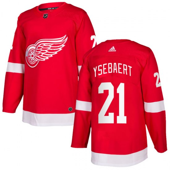Paul Ysebaert Detroit Red Wings Authentic Home Adidas Jersey - Red