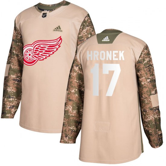 Filip Hronek Detroit Red Wings Youth Authentic Veterans Day Practice Adidas Jersey - Camo