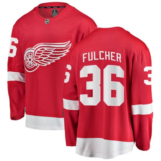 Kaden Fulcher Detroit Red Wings Youth Breakaway Home Fanatics Branded Jersey - Red