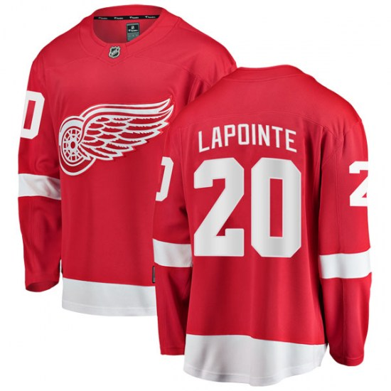 Martin Lapointe Detroit Red Wings Youth Breakaway Home Fanatics Branded Jersey - Red
