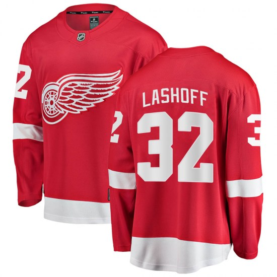 Brian Lashoff Detroit Red Wings Youth Breakaway Home Fanatics Branded Jersey - Red