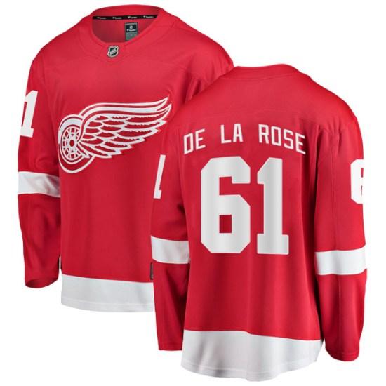 Jacob De La Rose Detroit Red Wings Youth Breakaway Home Fanatics Branded Jersey - Red