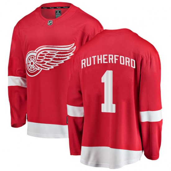 Jim Rutherford Detroit Red Wings Youth Breakaway Home Fanatics Branded Jersey - Red