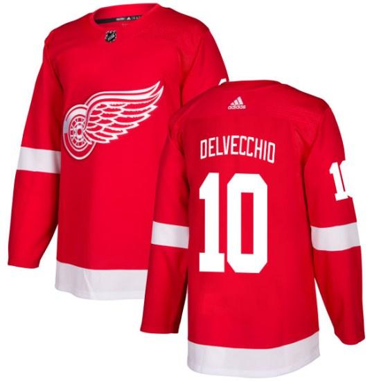 Alex Delvecchio Detroit Red Wings Authentic Adidas Jersey - Red