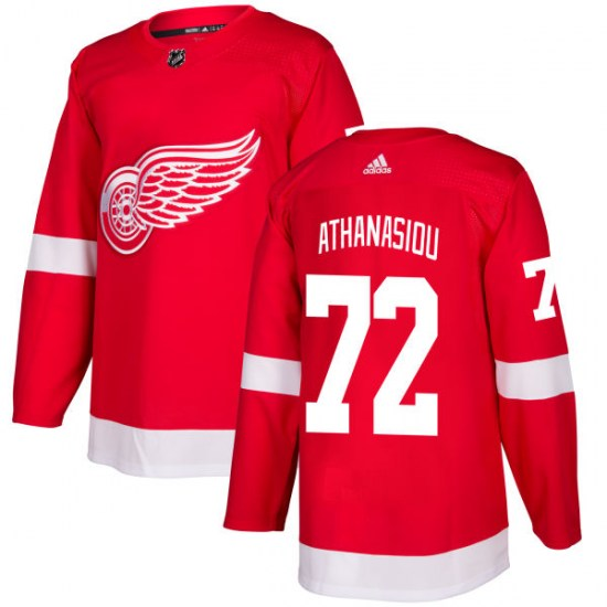 Andreas Athanasiou Detroit Red Wings Authentic Adidas Jersey - Red