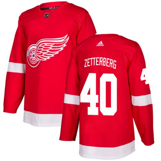 Henrik Zetterberg Detroit Red Wings Authentic Adidas Jersey - Red