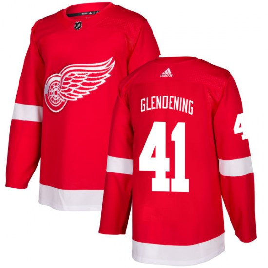 Luke Glendening Detroit Red Wings Authentic Adidas Jersey - Red