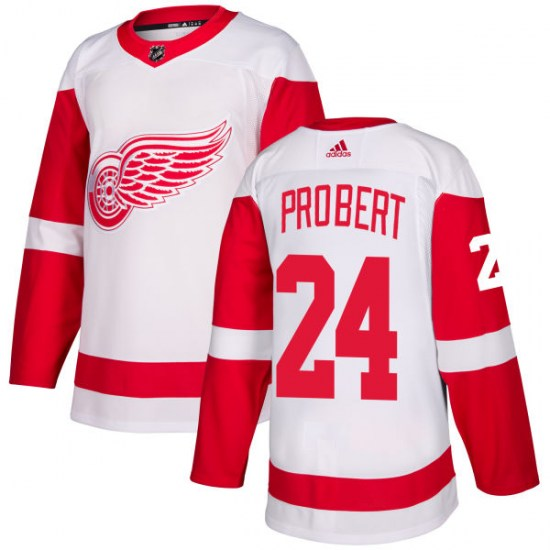 Bob Probert Detroit Red Wings Authentic Adidas Jersey - White