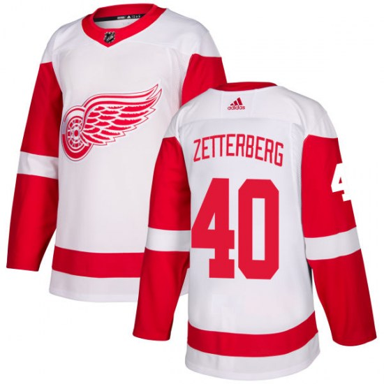 Henrik Zetterberg Detroit Red Wings Authentic Adidas Jersey - White