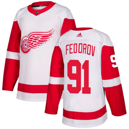 Sergei Fedorov Detroit Red Wings Authentic Adidas Jersey - White