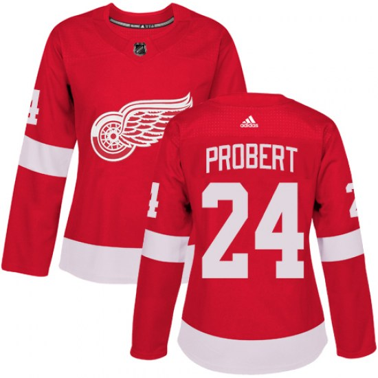 Bob Probert Detroit Red Wings Women's Authentic Home Adidas Jersey - Red