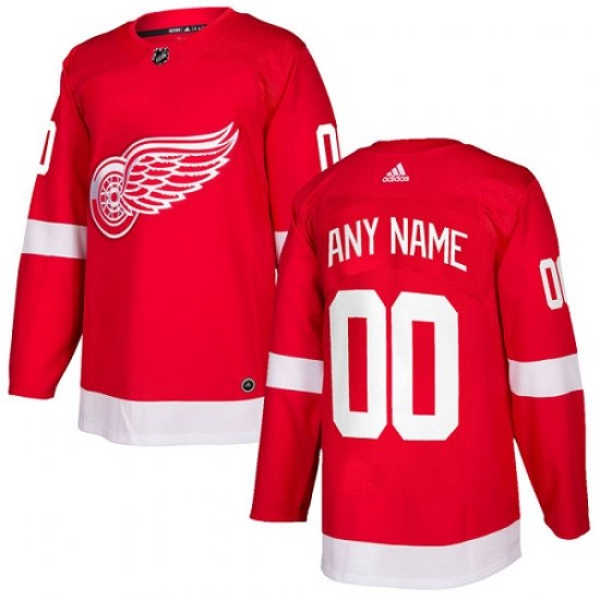 Custom Detroit Red Wings Youth Authentic Home Adidas Jersey - Red
