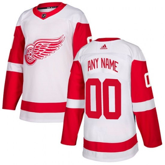 Custom Detroit Red Wings Youth Authentic Away Adidas Jersey - White