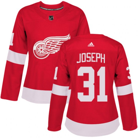 Curtis Joseph Detroit Red Wings Women's Authentic Home Adidas Jersey - Red