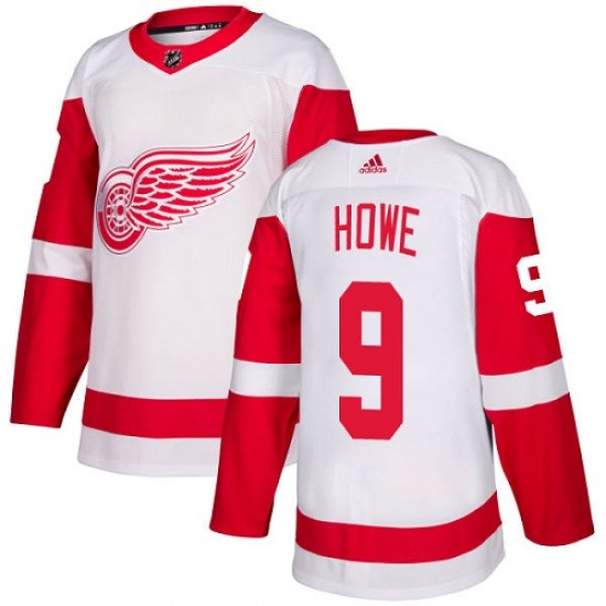 Gordie Howe Detroit Red Wings Women's Authentic Away Adidas Jersey - White